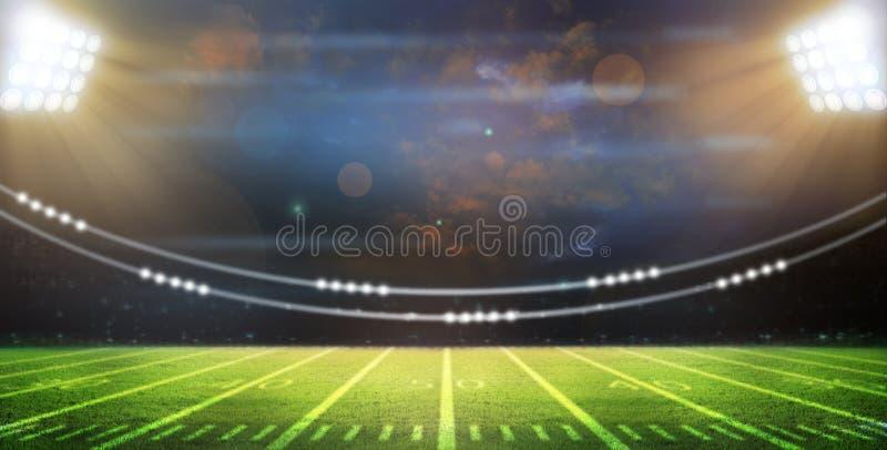 Ljus av stadion royaltyfri bild