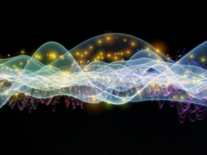 Ljus av vågen vektor illustrationer