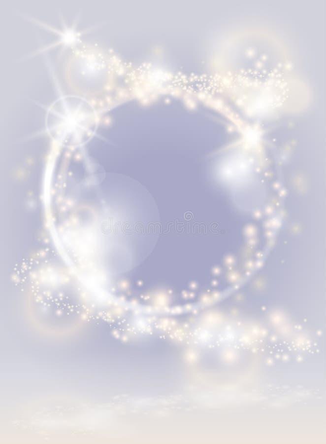 Ljus bakgrund för abstrakt glöd Mousserande festlig affisch royaltyfri illustrationer