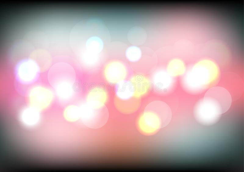 Ljus bakgrund för färgrik bokeh med suddiga defocused ljus Natten t?nder bakgrund stock illustrationer