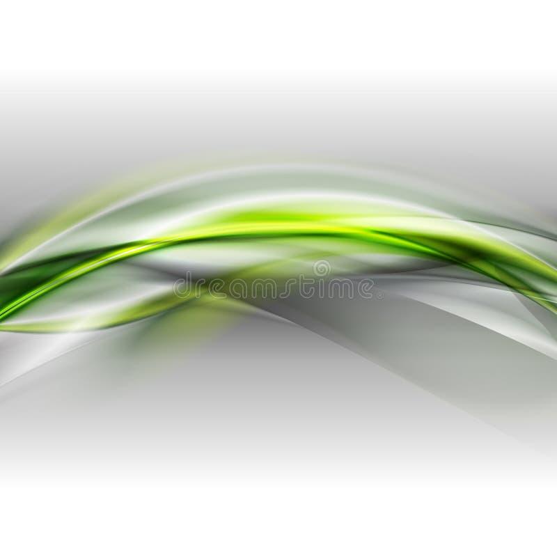 Ljus bakgrund för glödvågvektor vektor illustrationer