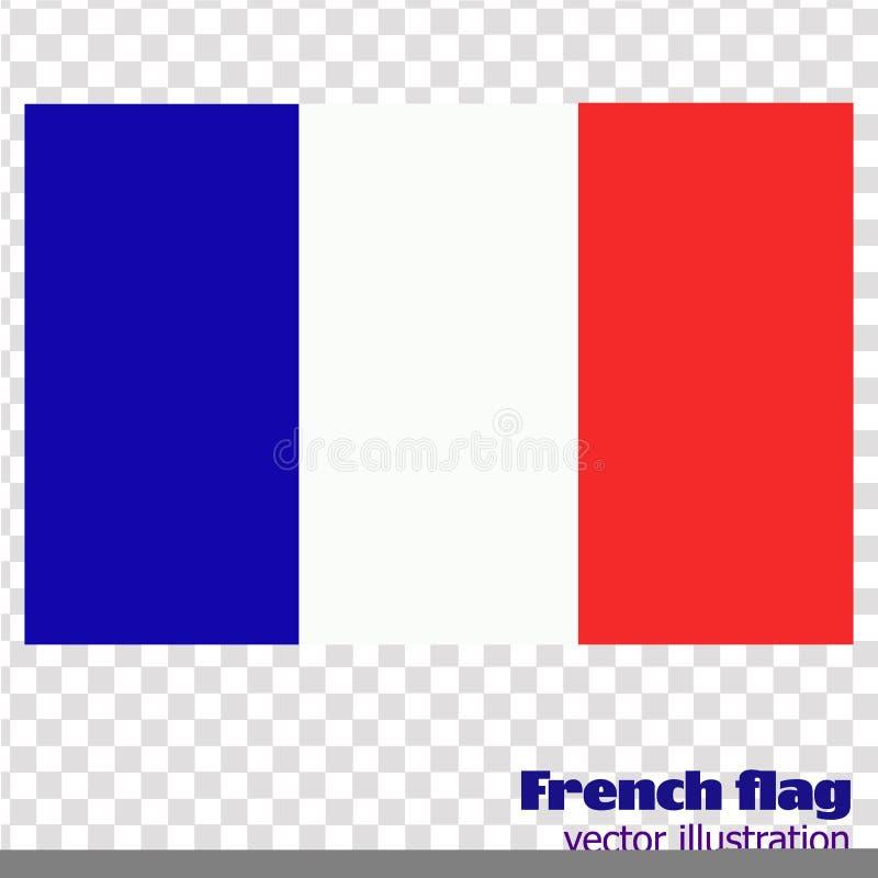 Ljus bakgrund med flaggan av Frankrike vektor stock illustrationer