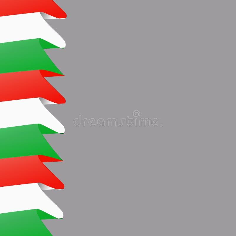 Ljus bakgrund med flaggan av Italien Lycklig Italien dagbakgrund royaltyfri illustrationer