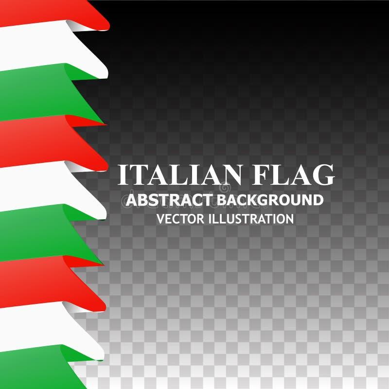 Ljus bakgrund med flaggan av Italien Lycklig Italien dagbakgrund stock illustrationer