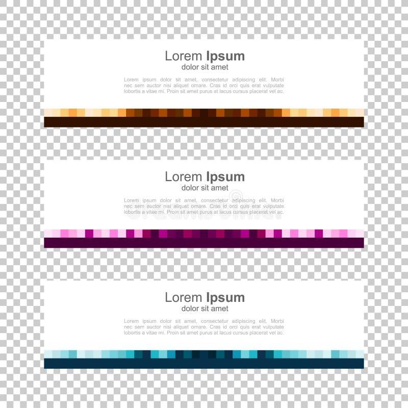Ljus bakgrund Modern malldesign PIXEL kvarter, bakgrund för baner för rastervektordesign vektor illustrationer