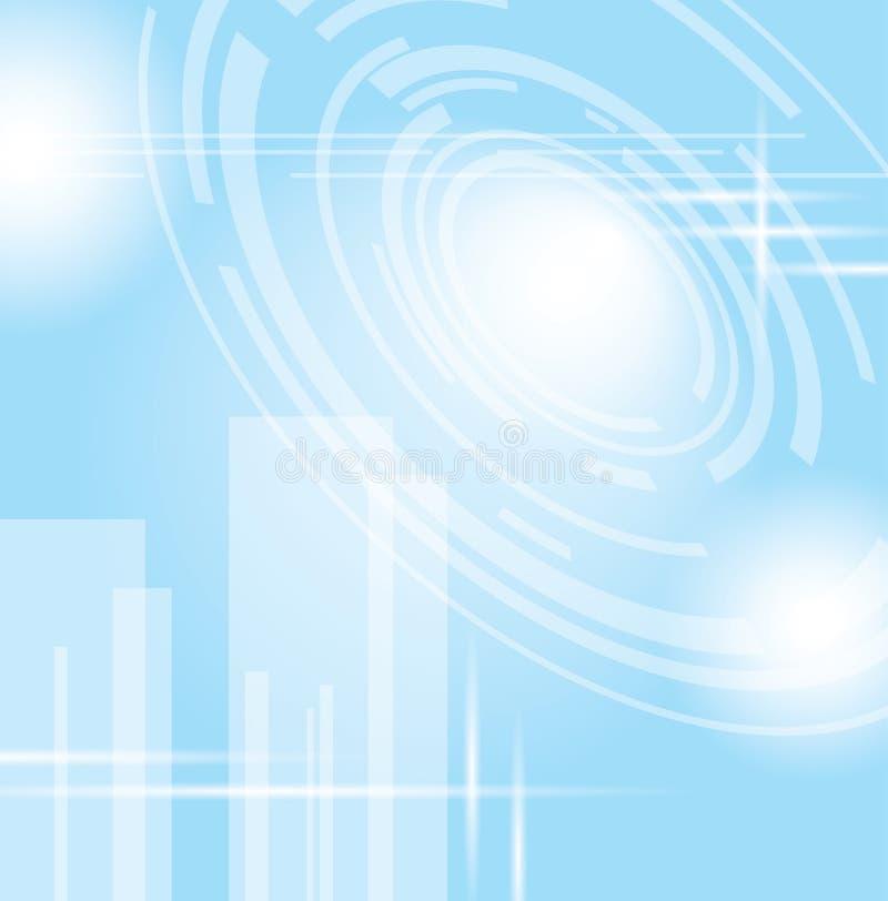 Ljus - blå abstrakt futuristisk bakgrund vektor illustrationer