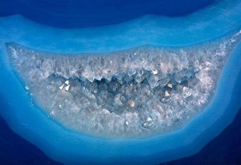 Ljus blå agatstruktur royaltyfri bild