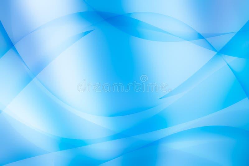 Ljus - blå bakgrund för kurva för ljus för vågabstrakt begrepptextur stock illustrationer