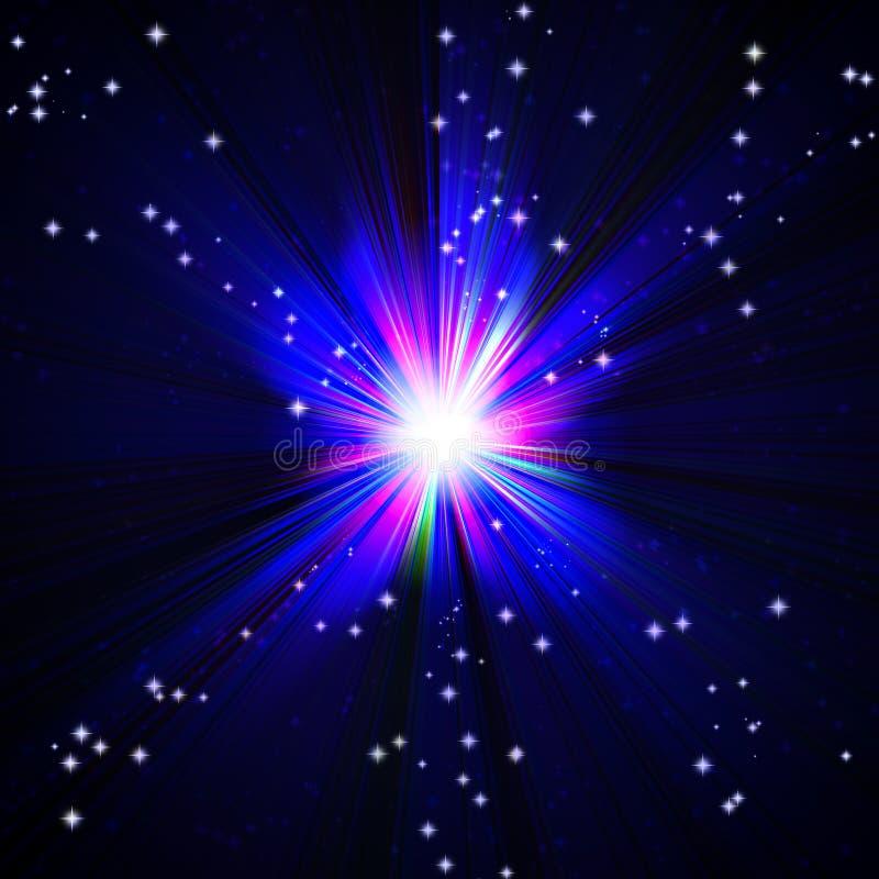 Ljus blå exponering royaltyfri illustrationer