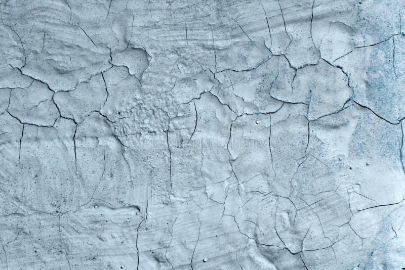 Ljus - blå gammal randig skadad måla textur - trevlig abstrakt fotobakgrund royaltyfri fotografi