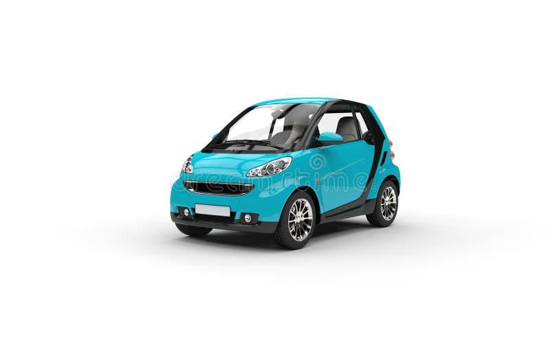 Ljus blå liten bil stock illustrationer