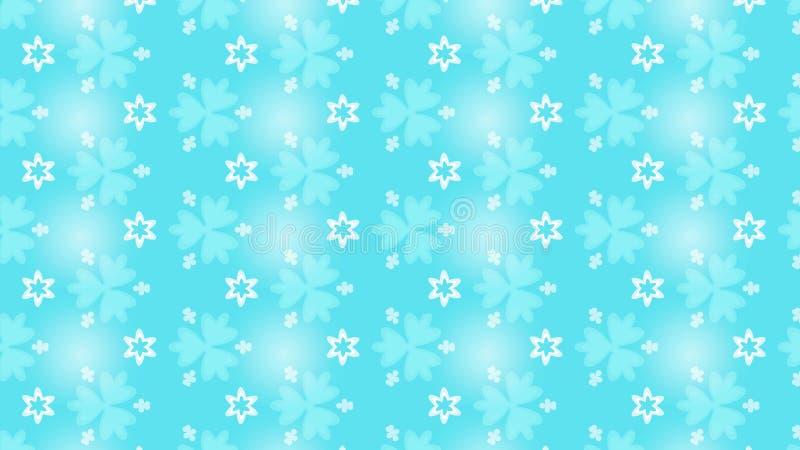 Ljus - blå ljuv blom- upprepande modellbakgrund stock illustrationer