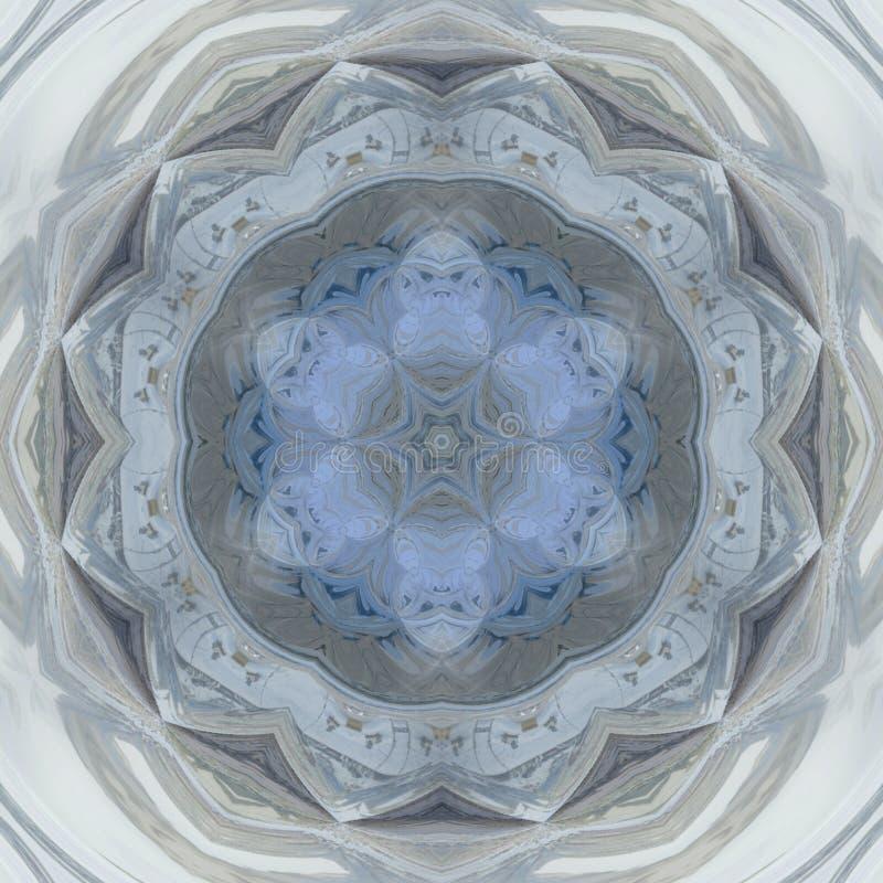 Ljus - blå rund modell royaltyfri illustrationer