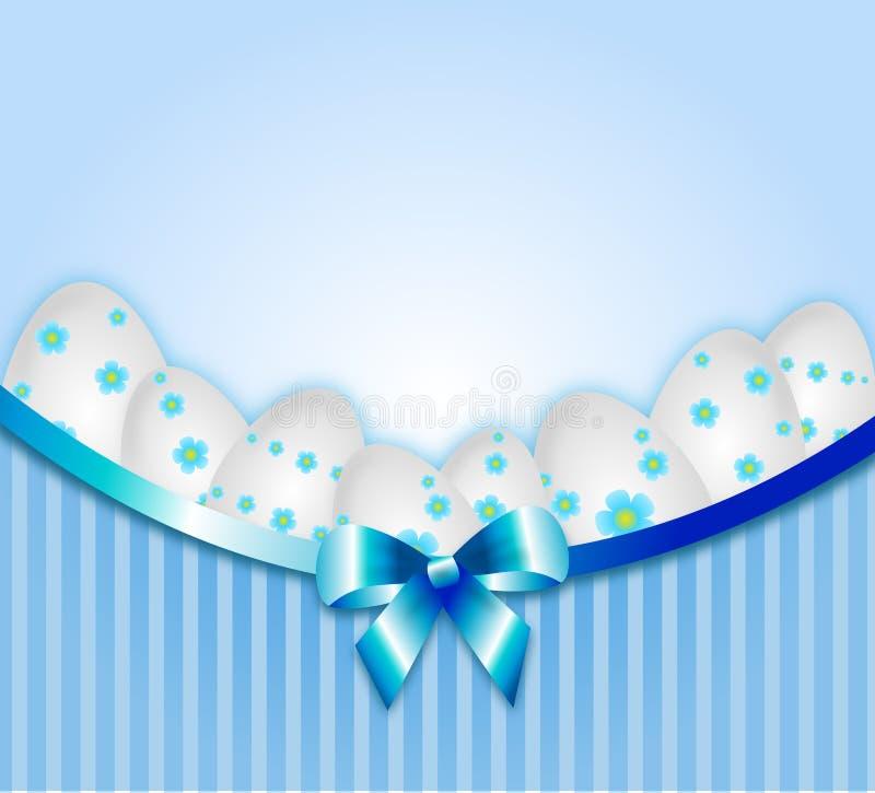 Ljus - blå softiceeaster bakgrund royaltyfri illustrationer