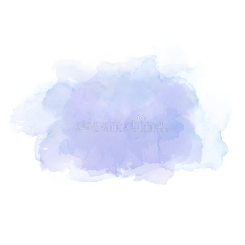 Ljus - blåa vattenfärgfläckar Elegant beståndsdel för abstrakt konstnärlig bakgrund vektor illustrationer