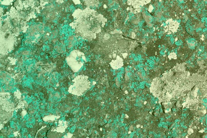 Ljus - blått åldrades den red ut svampen på slottväggtextur - gullig abstrakt fotobakgrund royaltyfria bilder