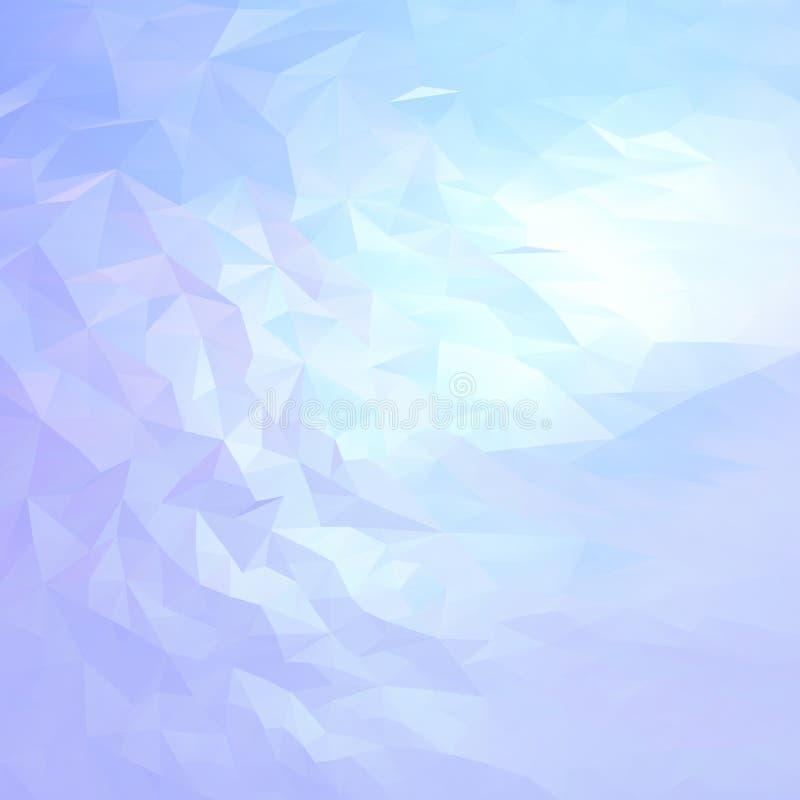 Ljus - blått, abstrakt bakgrund för rosa färger av triangulär mosaik royaltyfri illustrationer
