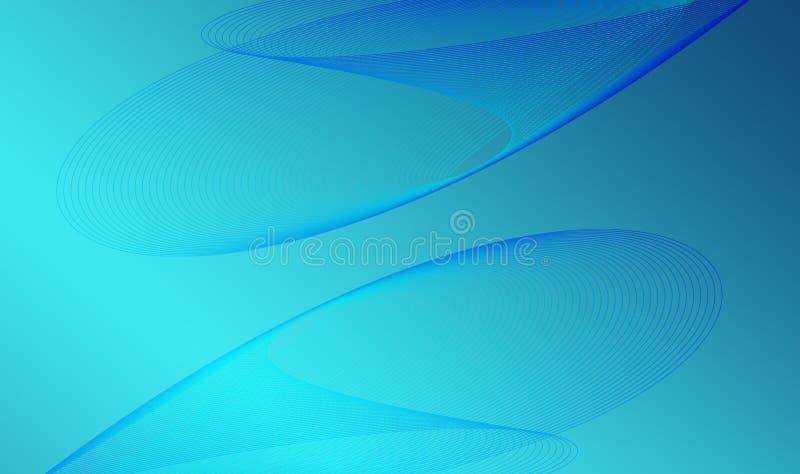 Ljus-blått-bakgrund-med-linje-vågor stock illustrationer