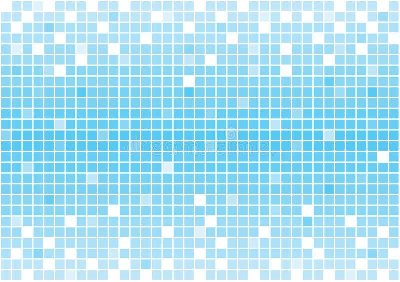 Ljus blått kvadrerar vektorbakgrund, moderiktig träsko för mosaiktegelplattor vektor illustrationer