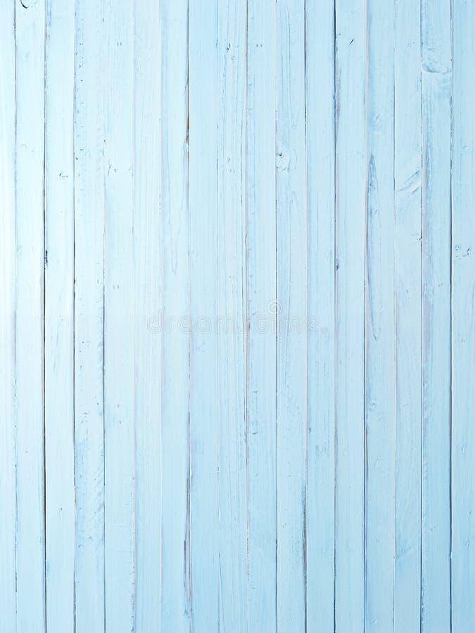 Ljus - blått målad Wood bakgrund arkivbild