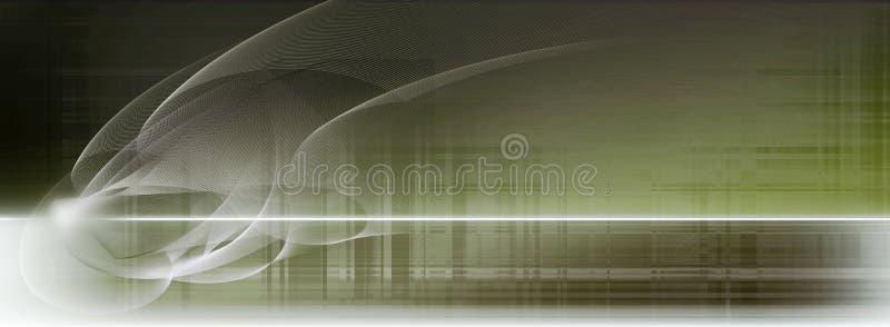 Ljus - blått- och vitrörelse fodrar på suddig sepiabakgrund royaltyfri illustrationer