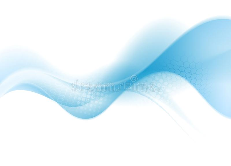 Ljus blåttabstrakt begreppvåg stock illustrationer