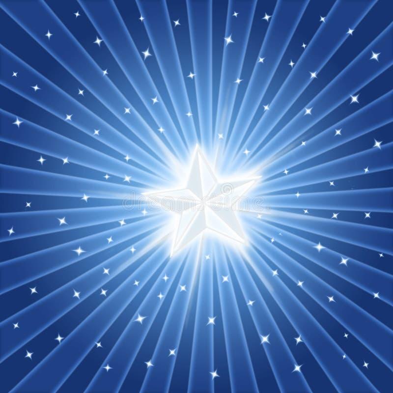 ljus blank stjärna vektor illustrationer