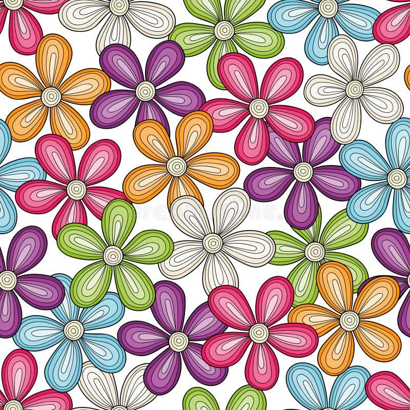 ljus blom- modell seamless vektor för bakgrund royaltyfri illustrationer