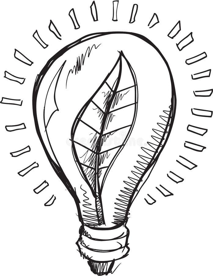 Ljus Blub för klotter vektor vektor illustrationer