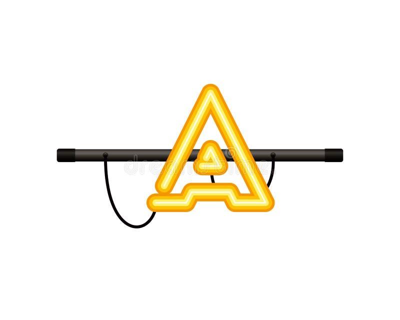 Ljus bokstav isolerad symbol för neon vektor illustrationer