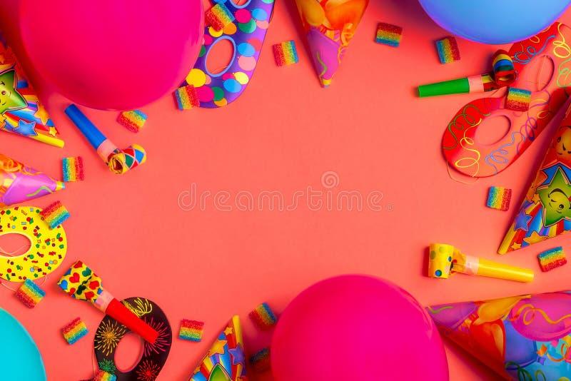 Ljus dekor för en födelsedag, ett parti, en festival eller en karneval fotografering för bildbyråer