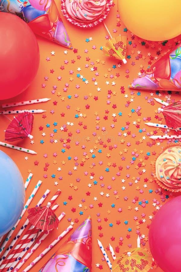 Ljus dekor för en födelsedag, parti arkivfoto