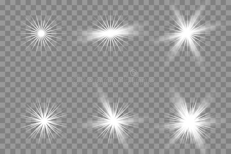 Ljus effekt för genomskinligt glöd royaltyfri illustrationer