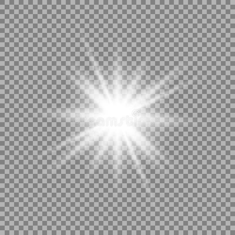 Ljus effekt för glöd stock illustrationer