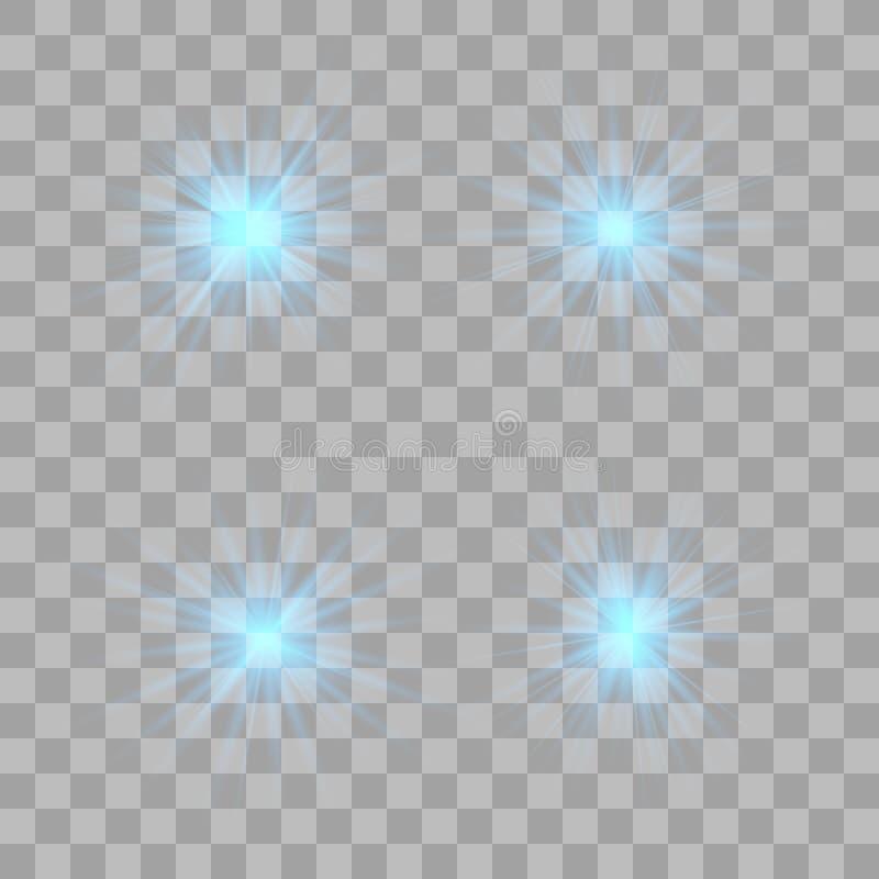Ljus effekt för glöd Julexponering royaltyfri illustrationer