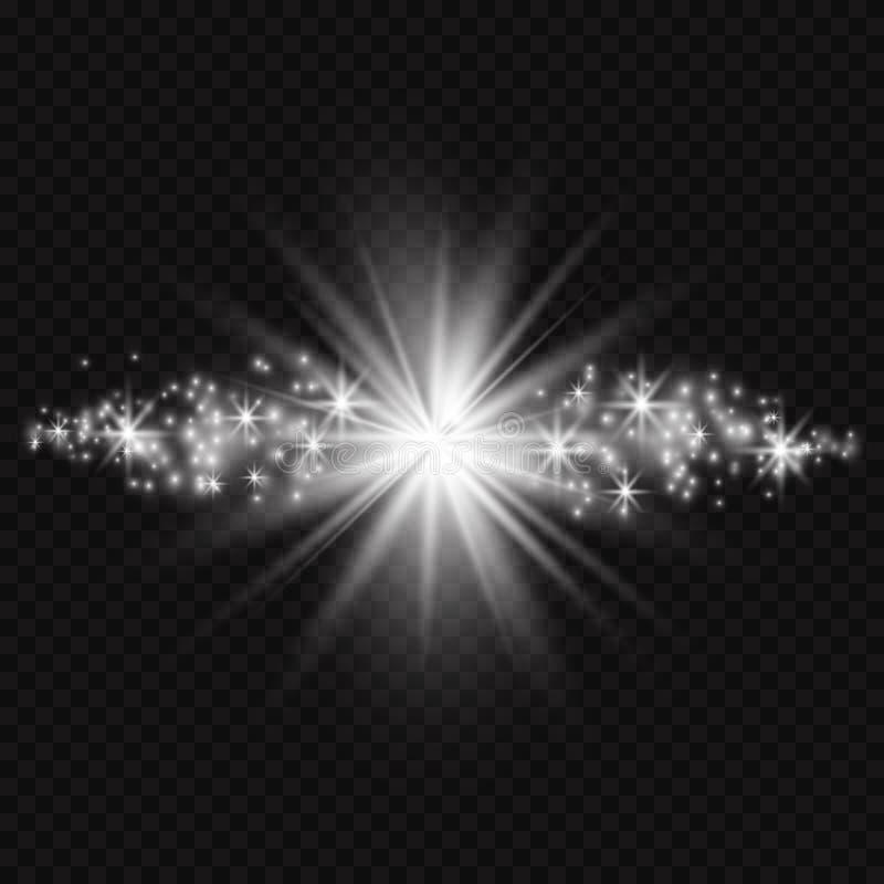 Ljus effekt för glöd också vektor för coreldrawillustration Jul exponerar begrepp royaltyfri illustrationer
