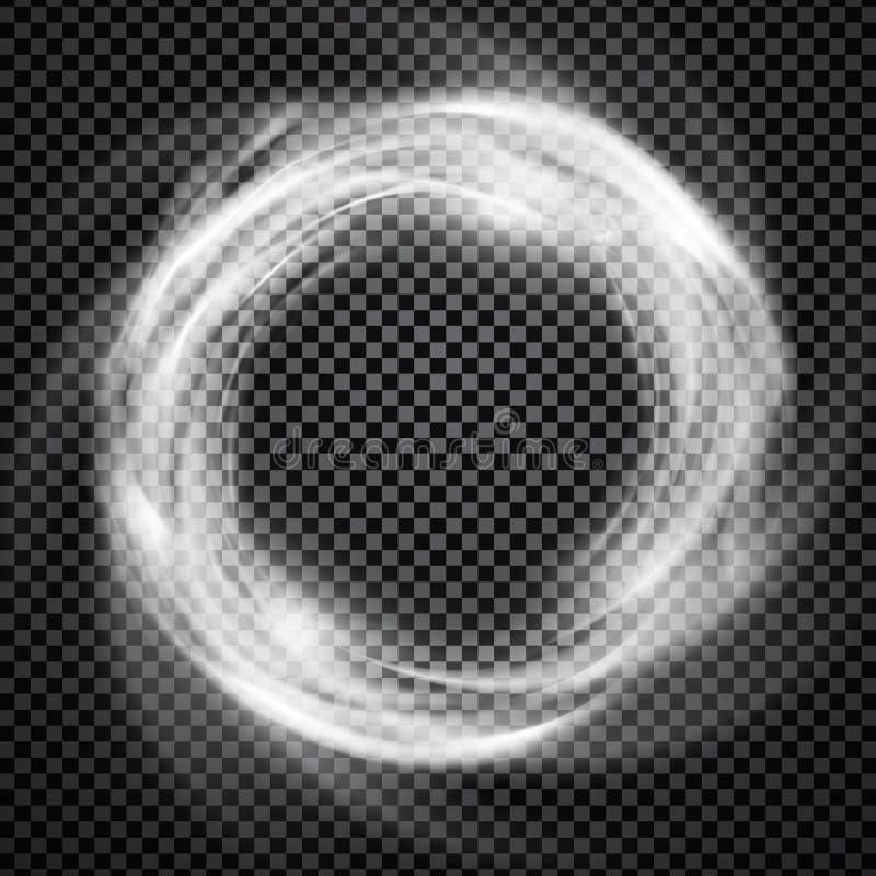 Ljus effekt för vektorrökcirkel med trasparency stock illustrationer