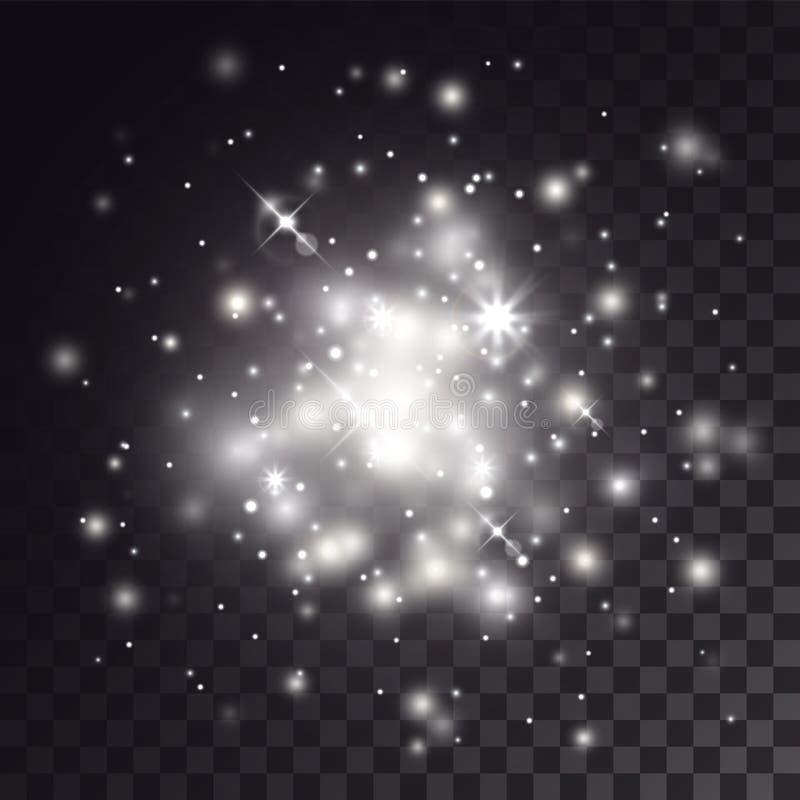 Ljus effekt för vit fogginess vektor illustrationer