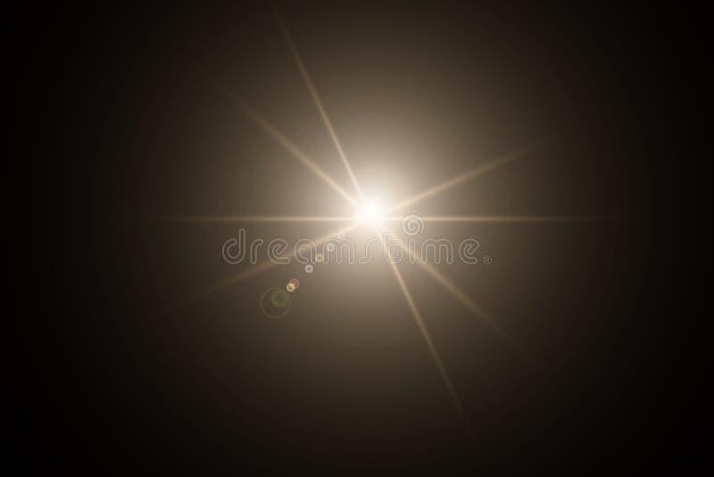 Ljus effekt Stjärnabristningen med mousserar Guld- blänka texturerar EPS10 vektor illustrationer