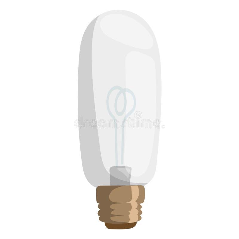 Ljus elkraft för utrustning för elektricitet för objekt för kula för teckning för design för ljus för lampa för illustration för  stock illustrationer