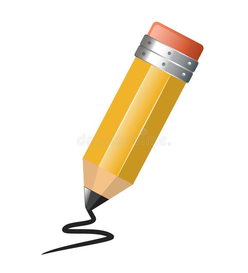 Ljus enkel blyertspennateckning royaltyfri illustrationer