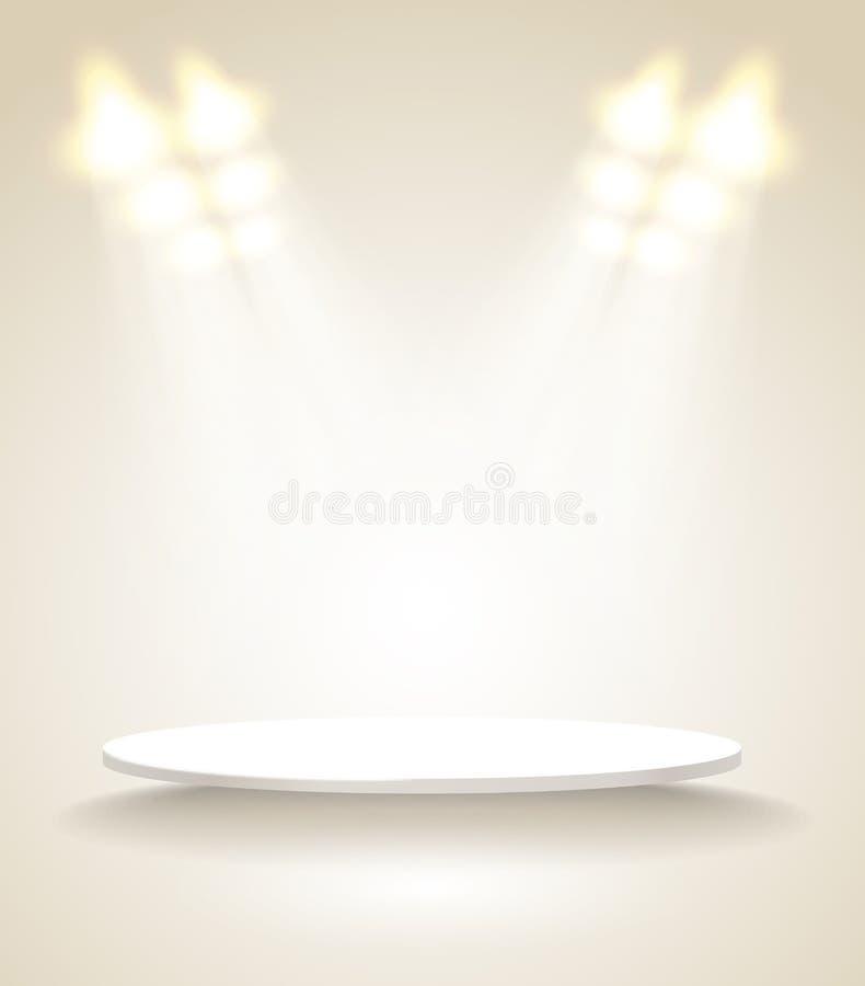 Ljus etapp vektor illustrationer