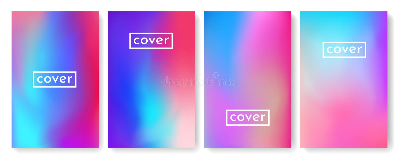 Ljus färgbakgrund med ingreppslutningtextur för broschyren, broschyr, reklamblad, räkning, katalog Blått, rosa, gult grönt plakat vektor illustrationer