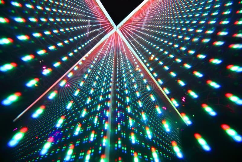 ljus färgrik exponeringsnattklubb royaltyfria foton