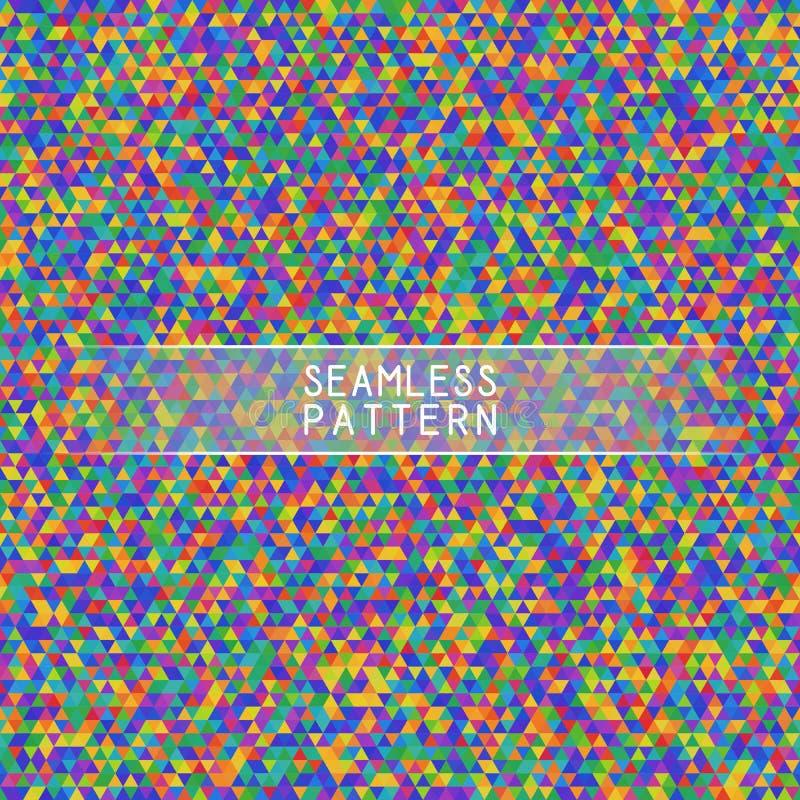Ljus färgrik sömlös modell av symmetriska trianglar stock illustrationer