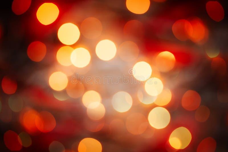 Ljus för fläckar för abstrakt julbakgrund Defocused royaltyfri foto
