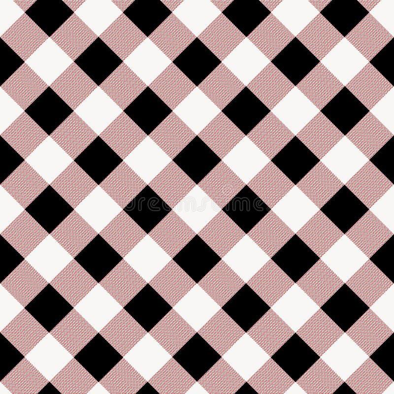 Ljus för modell för tartanpläd sömlöst - rosa färglinje som växlar rektanglar av rosa bakgrund för tyg, skotsk bur stock illustrationer