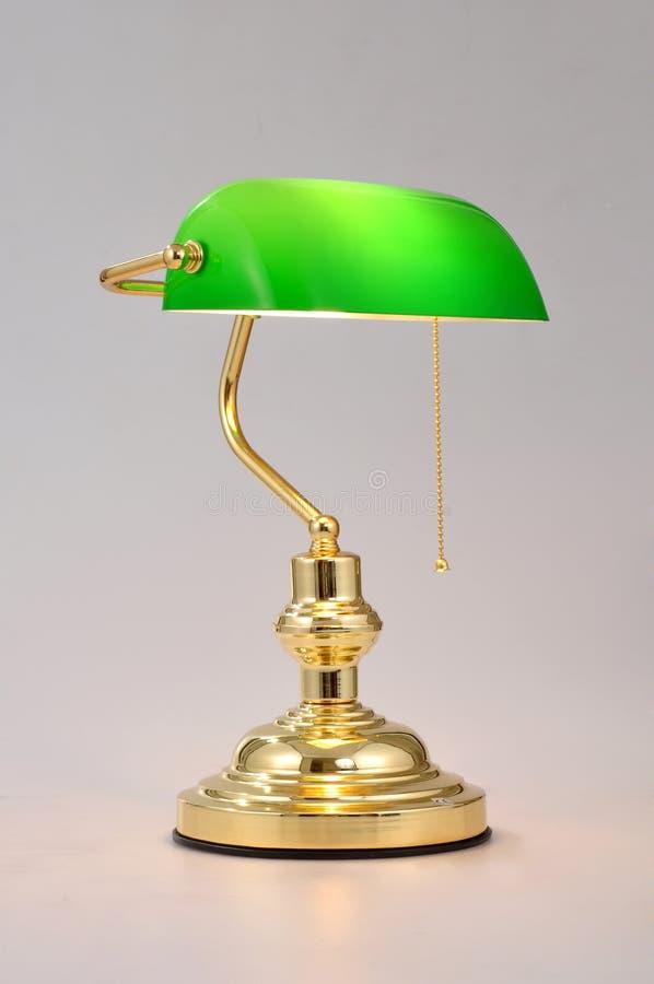 Ljus för tabell för skrivbordlampa arkivfoto