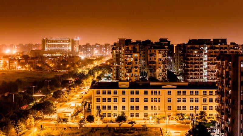 Ljus förorening Delhi arkivbild