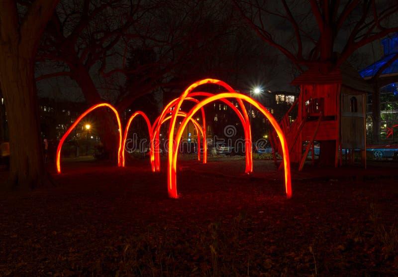 Ljus festival i amsterdam arkivbilder